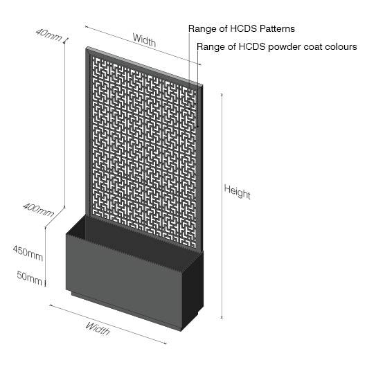 Planter Box Screens Hc Designer Screens