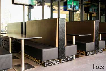 Routered Seating Screens